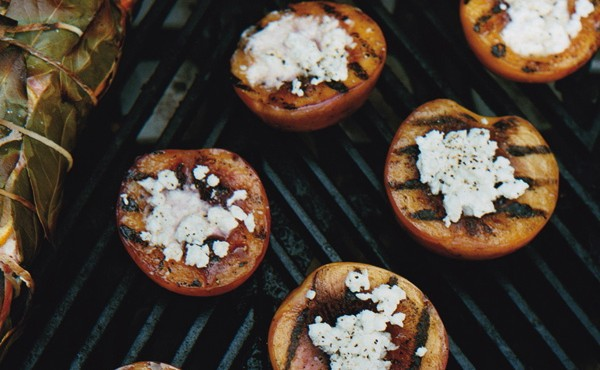 Grilled Nectarines with Feta