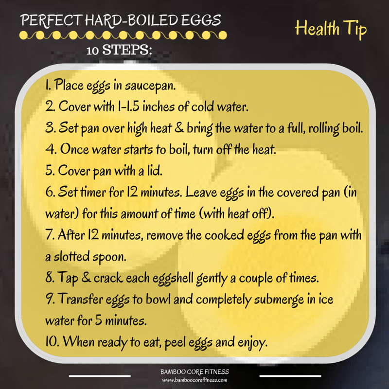 How to Make Perfect Hard-Boiled Eggs – BambooCore Fitness